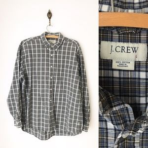 J Crew Plaid Button Down Cotton Shirt Long Sleeve